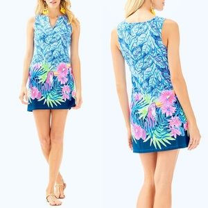 Lilly Pulitzer Harper Shift Dress Bennet Blue Let's Mango Engineered Size Small
